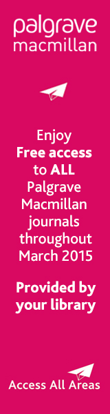 Palgrave Macmillan Journals Trial access Promo banner