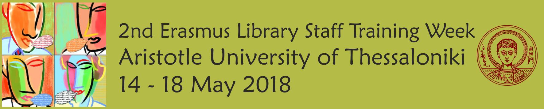 2nd Erasmus Library Staff Training Week banner