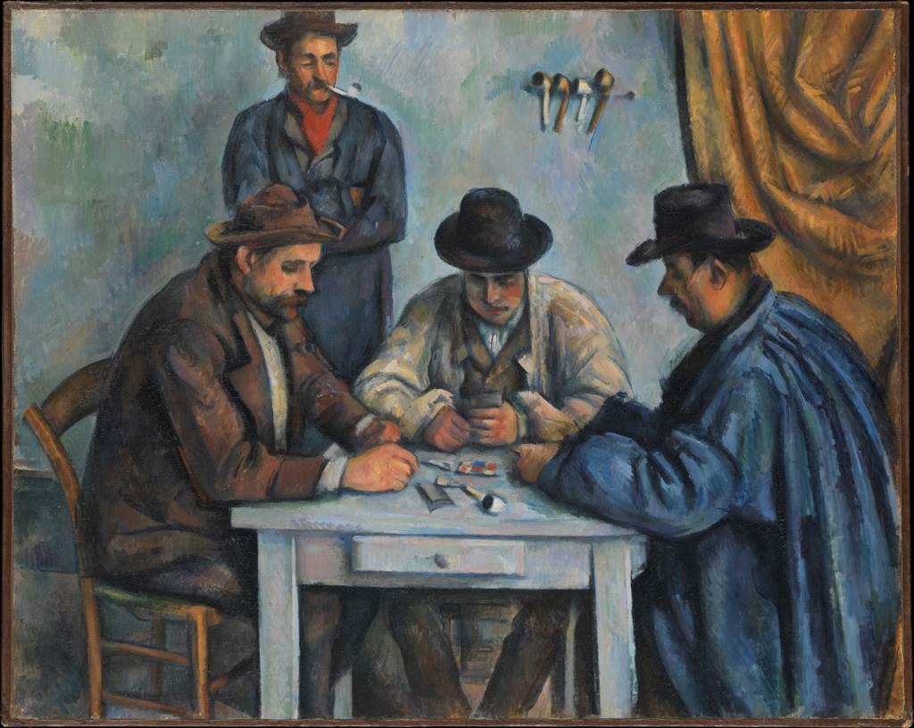 The Card Players, oil on canvas by Paul Cézanne, 1890-92.