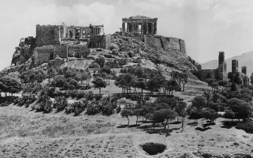 Πανοραμική θέα της Ακρόπολης από την δυτική πλευρά (1912)