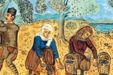 Theofilos Chatzimichail (1933). The picking of olives.  Public domain Work. Downloaded on 01/10/2013 from : http://goo.gl/zUlA81